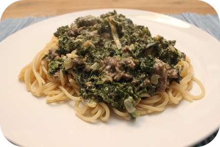 Recept spaghetti met runderworstjes   voor en door jou