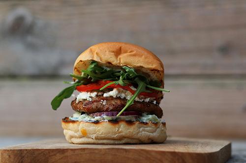 Griekse broodjes lamsburger