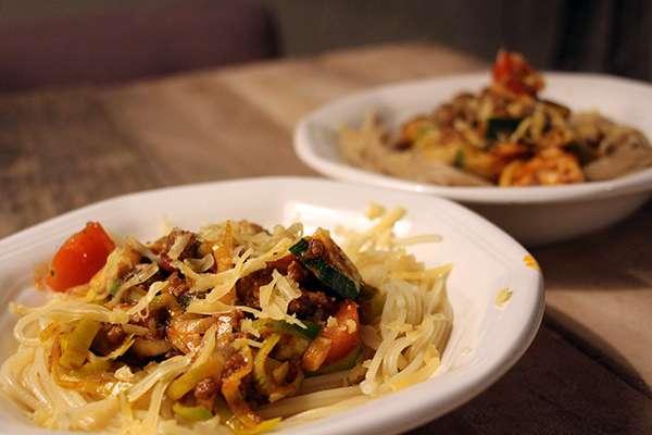 Recept pasta met gehakt en verse groenten